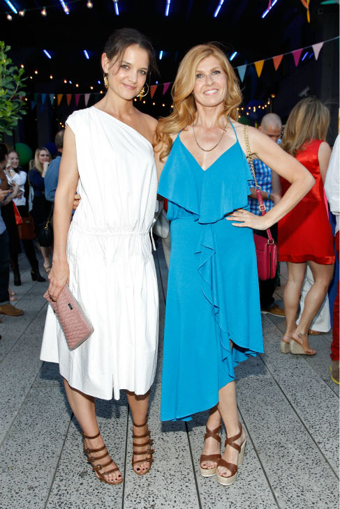"<div class=""meta ""><span class=""caption-text "">Katie Holmes and Connie Britton ('Nashville') attends Summer Party on The Highline, presented by Coach at High Line Park in New York City on June 11, 2013. (Brian Ach / Getty Images for COACH)</span></div>"
