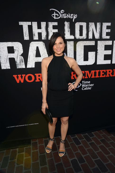 "<div class=""meta ""><span class=""caption-text "">Lana Parrilla of ABC's 'Once Upon A Time' attends the world premiere of Disney/Jerry Bruckheimer Films' 'The Lone Ranger' at Disney California Adventure Park in Disneyland in Anaheim, California on June 22, 2013. (Michael Buckner / WireImage / Walt Disney Company)</span></div>"