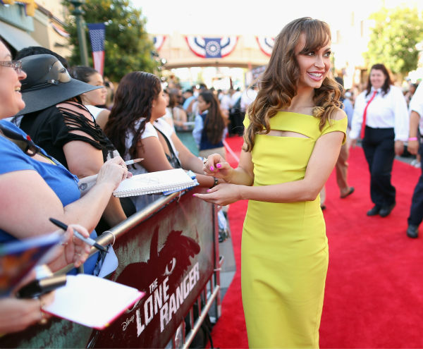 Karina Smirnoff of ABC&#39;s &#39;Dancing With The Stars&#39; attends the world premiere of Disney&#47;Jerry Bruckheimer Films&#39; &#39;The Lone Ranger&#39; at Disney California Adventure Park in Disneyland in Anaheim, California on June 22, 2013. <span class=meta>(Christopher Polk &#47; WireImage &#47; Walt Disney Company)</span>