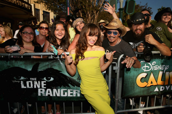 "<div class=""meta ""><span class=""caption-text "">Karina Smirnoff of ABC's 'Dancing With The Stars' attends the world premiere of Disney/Jerry Bruckheimer Films' 'The Lone Ranger' at Disney California Adventure Park in Disneyland in Anaheim, California on June 22, 2013. (Christopher Polk / WireImage / Walt Disney Company)</span></div>"