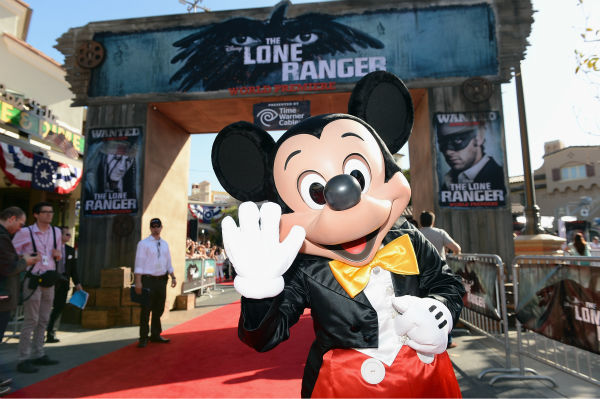 Mickey Mouse attends the world premiere of Disney&#47;Jerry Bruckheimer Films&#39; &#39;The Lone Ranger&#39; at Disney California Adventure Park in Disneyland in Anaheim, California on June 22, 2013. <span class=meta>(Michael Buckner &#47; WireImage &#47; Walt Disney Company)</span>