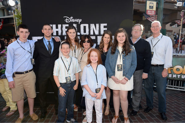 Executive Producer Mike Stenson and family attend the world premiere of Disney&#47;Jerry Bruckheimer Films&#39; &#39;The Lone Ranger&#39; at Disney California Adventure Park in Disneyland in Anaheim, California on June 22, 2013. <span class=meta>(Christopher Polk &#47; WireImage &#47; Walt Disney Company)</span>