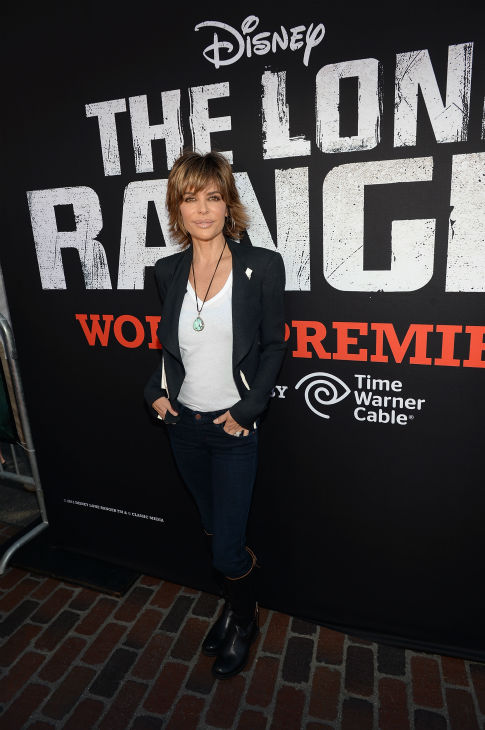 "<div class=""meta image-caption""><div class=""origin-logo origin-image ""><span></span></div><span class=""caption-text"">Actress and reality star Lisa Rinna attends the world premiere of Disney/Jerry Bruckheimer Films' 'The Lone Ranger' at Disney California Adventure Park in Disneyland in Anaheim, California on June 22, 2013. (Michael Buckner / WireImage / Walt Disney Company)</span></div>"