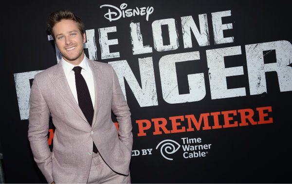Cast member Armie Hammer attends the world premiere of Disney&#47;Jerry Bruckheimer Films&#39; &#39;The Lone Ranger&#39; at Disney California Adventure Park in Disneyland in Anaheim, California on June 22, 2013. <span class=meta>(Michael Buckner &#47; WireImage &#47; Walt Disney Company)</span>