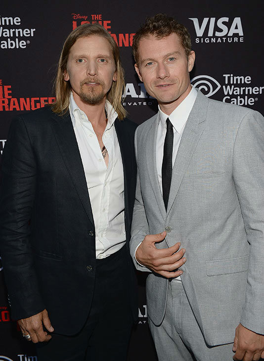 James Badge Dale &#40;R&#41; and Barry Pepper attend the world premiere of Disney&#47;Jerry Bruckheimer Films&#39; &#39;The Lone Ranger&#39; at Disney California Adventure Park in Disneyland in Anaheim, California on June 22, 2013. <span class=meta>(Michael Buckner &#47; WireImage &#47; Walt Disney Company)</span>