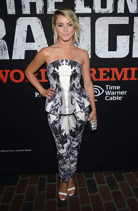 "<div class=""meta ""><span class=""caption-text "">Julianne Hough (formerly of ABC's 'Dancing With The Stars,' starred in 'Rock of Ages') attends the world premiere of Disney/Jerry Bruckheimer Films' 'The Lone Ranger' at Disney California Adventure Park in Disneyland in Anaheim, California on June 22, 2013. (Michael Buckner / WireImage / Walt Disney Company)</span></div>"