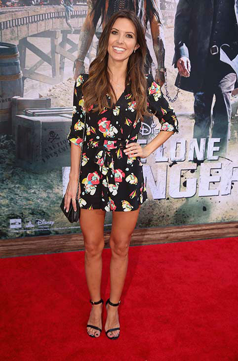 Audrina Patridge of 'The Hills' attends the world premiere of Disney/Jerry Bruckheimer Films' 'The Lone Ranger' at Disney California Adventure Park in Disneyland in Anaheim, California on June 22, 2013.