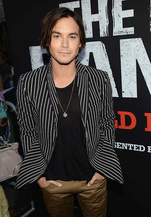 Tyler Blackburn of ABC Family&#39;s &#39;Pretty Little Liars&#39; and spinoff &#39;Ravenswood&#39; attends the world premiere of Disney&#47;Jerry Bruckheimer Films&#39; &#39;The Lone Ranger&#39; at Disney California Adventure Park in Disneyland in Anaheim, California on June 22, 2013. <span class=meta>(Michael Buckner &#47;  WireImage &#47; Walt Disney Company)</span>