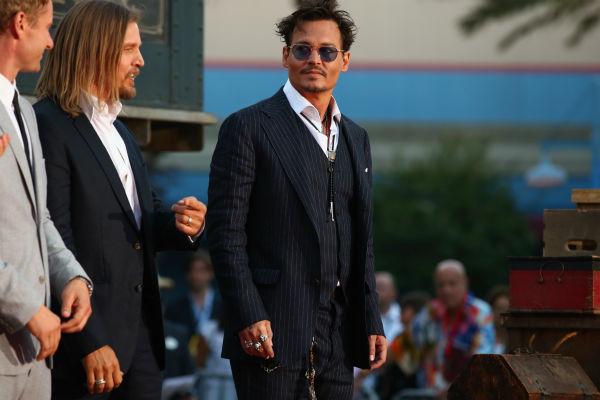 Cast member Johnny Depp attends the world premiere of Disney/Jerry Bruckheimer Films' 'The Lone Ranger' at Disney California Adventure Park in Disneyland in Anaheim, California on June 22, 2013.