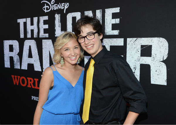 "<div class=""meta image-caption""><div class=""origin-logo origin-image ""><span></span></div><span class=""caption-text"">Audrey Whitby of the Disney Channel series 'So Random!' and Joey Bragg of the cable channel's new show 'Liv and Maddie' attend the world premiere of Disney/Jerry Bruckheimer Films' 'The Lone Ranger' at Disney California Adventure Park in Disneyland in Anaheim, California on June 22, 2013. (Michael Buckner / WireImage / Walt Disney Company)</span></div>"