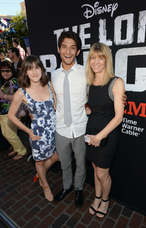 Tyler Posey &#40;C&#41; of MTV&#39;s &#39;Teen Wolf&#39; attends the world premiere of Disney&#47;Jerry Bruckheimer Films&#39; &#39;The Lone Ranger&#39; at Disney California Adventure Park in Disneyland in Anaheim, California on June 22, 2013. <span class=meta>(Michael Buckner &#47; WireImage &#47; Walt Disney Company)</span>