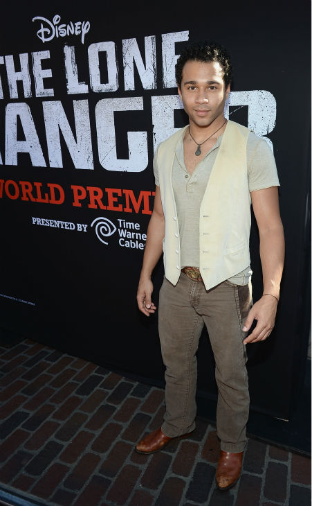 "<div class=""meta image-caption""><div class=""origin-logo origin-image ""><span></span></div><span class=""caption-text"">Corbin Bleu (formerly of the Disney Channel's 'High School Musical') attends the world premiere of Disney/Jerry Bruckheimer Films' 'The Lone Ranger' at Disney California Adventure Park in Disneyland in Anaheim, California on June 22, 2013. (Michael Buckner / WireImage / Walt Disney Company)</span></div>"