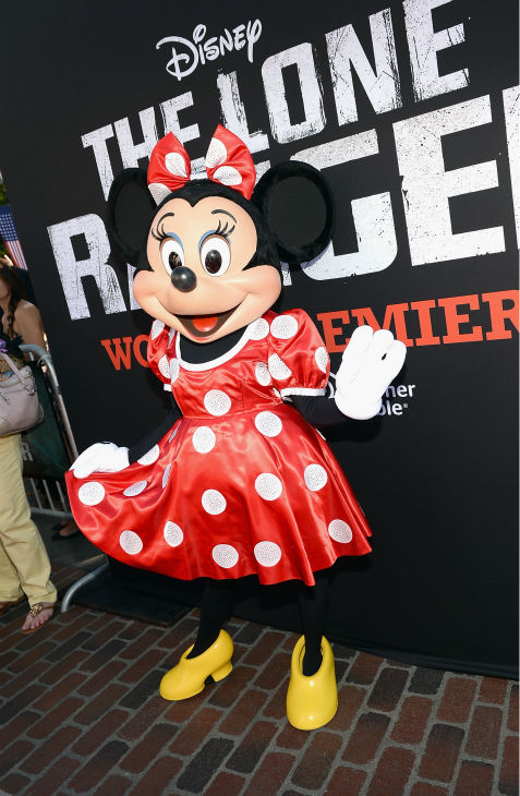 Minnie Mouse attends the world premiere of Disney&#47;Jerry Bruckheimer Films&#39; &#39;The Lone Ranger&#39; at Disney California Adventure Park in Disneyland in Anaheim, California on June 22, 2013. <span class=meta>(Michael Buckner &#47; WireImage &#47; Walt Disney Company)</span>