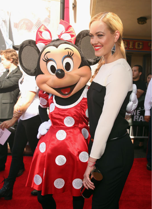 Peta Murgatroyd of ABC&#39;s &#39;Dancing With The Stars&#39; and Minnie Mouse attend the world premiere of Disney&#47;Jerry Bruckheimer Films&#39; &#39;The Lone Ranger&#39; at Disney California Adventure Park in Disneyland in Anaheim, California on June 22, 2013. <span class=meta>(Christopher Polk &#47; WireImage &#47; Walt Disney Company)</span>