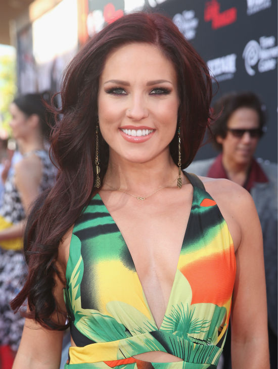 Sharna Burgess of ABC&#39;s &#39;Dancing With The Stars&#39; attends the world premiere of Disney&#47;Jerry Bruckheimer Films&#39; &#39;The Lone Ranger&#39; at Disney California Adventure Park in Disneyland in Anaheim, California on June 22, 2013. <span class=meta>(Christopher Polk &#47; WireImage &#47; Walt Disney Company)</span>