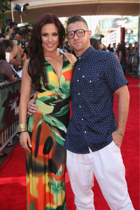 Sharna Burgess of ABC&#39;s &#39;Dancing With The Stars&#39; and Paul Kirkland &#40;assistant choreographer of ABC&#39;s &#39;Duets&#39;&#41; attend the world premiere of Disney&#47;Jerry Bruckheimer Films&#39; &#39;The Lone Ranger&#39; at Disney California Adventure Park in Disneyland in Anaheim, California on June 22, 2013. <span class=meta>(Christopher Polk &#47; WireImage &#47; Walt Disney Company)</span>