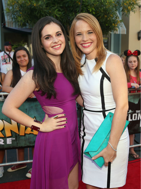 Vanessa Marano and Katie Leclerc of the ABC Family series &#39;Switched At Birth&#39; attend the world premiere of Disney&#47;Jerry Bruckheimer Films&#39; &#39;The Lone Ranger&#39; at Disney California Adventure Park in Disneyland in Anaheim, California on June 22, 2013. <span class=meta>(Christopher Polk &#47; WireImage &#47; Walt Disney Company)</span>