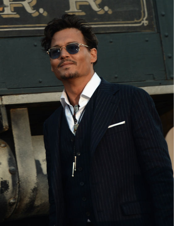 Cast member Johnny Depp attends the world premiere of Disney&#47;Jerry Bruckheimer Films&#39; &#39;The Lone Ranger&#39; at Disney California Adventure Park in Disneyland in Anaheim, California on June 22, 2013. <span class=meta>(Michael Buckner &#47; WireImage &#47; Walt Disney Company)</span>