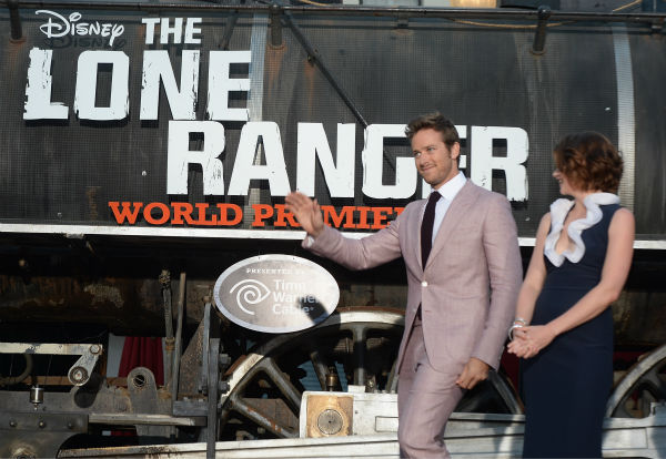 Cast members Armie Hammer and Ruth Wilson attend the world premiere of Disney&#47;Jerry Bruckheimer Films&#39; &#39;The Lone Ranger&#39; at Disney California Adventure Park in Disneyland in Anaheim, California on June 22, 2013. <span class=meta>(Michael Buckner &#47; WireImage &#47; Walt Disney Company)</span>