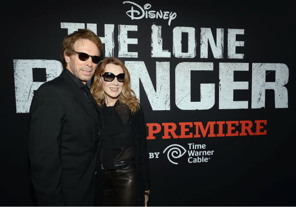 Producer Jerry Bruckheimer and Linda Bruckheimer attend the world premiere of Disney&#47;Jerry Bruckheimer Films&#39; &#39;The Lone Ranger&#39; at Disney California Adventure Park in Disneyland in Anaheim, California on June 22, 2013. <span class=meta>(Michael Buckner &#47; WireImage &#47; Walt Disney Company)</span>