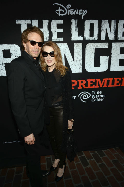 "<div class=""meta ""><span class=""caption-text "">Producer Jerry Bruckheimer and Linda Bruckheimer attend the world premiere of Disney/Jerry Bruckheimer Films' 'The Lone Ranger' at Disney California Adventure Park in Disneyland in Anaheim, California on June 22, 2013. (Michael Buckner / WireImage / Walt Disney Company)</span></div>"