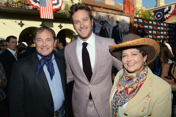 Utah Governor Gary R. Herbert and wife Jeanette Herbert pose with cast member Armie Hammer at the world premiere of Disney&#47;Jerry Bruckheimer Films&#39; &#39;The Lone Ranger&#39; at Disney California Adventure Park in Disneyland in Anaheim, California on June 22, 2013. <span class=meta>(Michael Buckner &#47; WireImage &#47; Walt Disney Company)</span>