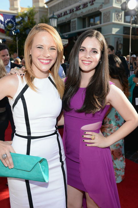 "<div class=""meta image-caption""><div class=""origin-logo origin-image ""><span></span></div><span class=""caption-text"">Katie Leclerc (L) and Vanessa Marano of the ABC Family series 'Switched At Birth' attend the world premiere of Disney/Jerry Bruckheimer Films' 'The Lone Ranger' at Disney California Adventure Park in Disneyland in Anaheim, California on June 22, 2013. (Michael Buckner / WireImage / Walt Disney Company)</span></div>"