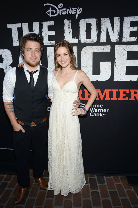 "<div class=""meta ""><span class=""caption-text "">'American Idol' season 9 winner Lee DeWyze (L) attends the world premiere of Disney/Jerry Bruckheimer Films' 'The Lone Ranger' at Disney California Adventure Park in Disneyland in Anaheim, California on June 22, 2013. (Michael Buckner / WireImage / Walt Disney Company)</span></div>"