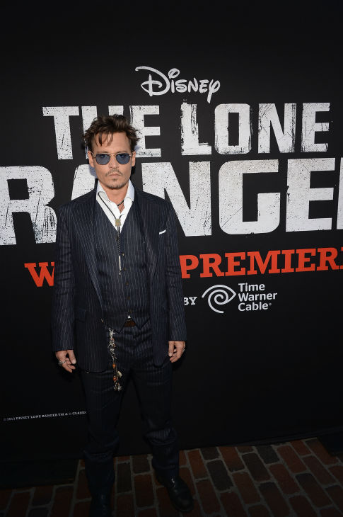 "<div class=""meta image-caption""><div class=""origin-logo origin-image ""><span></span></div><span class=""caption-text"">Cast member Johnny Depp attends the world premiere of Disney/Jerry Bruckheimer Films' 'The Lone Ranger' at Disney California Adventure Park in Disneyland in Anaheim, California on June 22, 2013. (Michael Buckner / WireImage / Walt Disney Company)</span></div>"