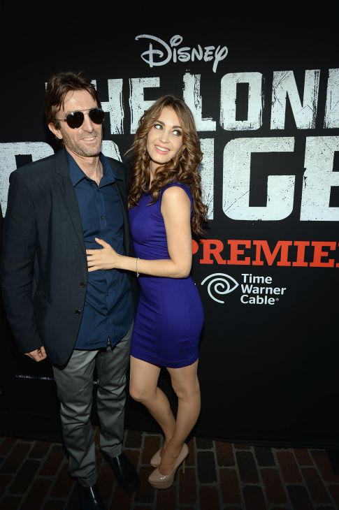"<div class=""meta ""><span class=""caption-text "">Sharlto Copley (L), who stars with Angelina Jolie in Disney's new film 'Maleficent,' and a guest attend the world premiere of Disney/Jerry Bruckheimer Films' 'The Lone Ranger' at Disney California Adventure Park in Disneyland in Anaheim, California on June 22, 2013. (Michael Buckner / WireImage / Walt Disney Company)</span></div>"