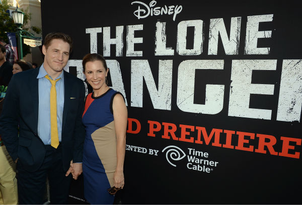 Sam Jaeger &#40;L&#41; of the NBC show &#39;Parenthood&#39; and a guest attend the world premiere of Disney&#47;Jerry Bruckheimer Films&#39; &#39;The Lone Ranger&#39; at Disney California Adventure Park in Disneyland in Anaheim, California on June 22, 2013. <span class=meta>(Michael Buckner &#47; WireImage &#47; Walt Disney Company)</span>
