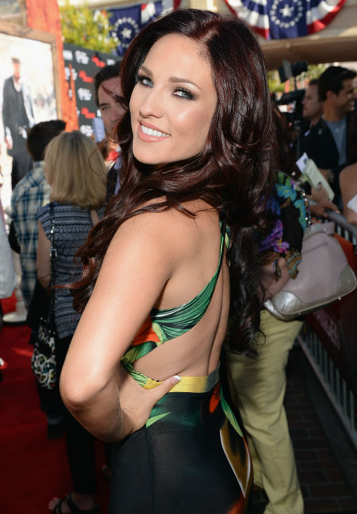 "<div class=""meta ""><span class=""caption-text "">Sharna Burgess of ABC's 'Dancing With The Stars' attends the world premiere of Disney/Jerry Bruckheimer Films' 'The Lone Ranger' at Disney California Adventure Park in Disneyland in Anaheim, California on June 22, 2013. (Michael Buckner / WireImage / Walt Disney Company)</span></div>"