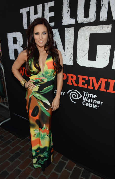 Sharna Burgess of ABC&#39;s &#39;Dancing With The Stars&#39; attends the world premiere of Disney&#47;Jerry Bruckheimer Films&#39; &#39;The Lone Ranger&#39; at Disney California Adventure Park in Disneyland in Anaheim, California on June 22, 2013. <span class=meta>(Michael Buckner &#47; WireImage &#47; Walt Disney Company)</span>