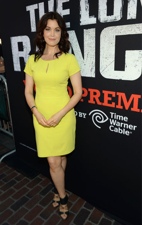 Bellamy Young of ABC&#39;s &#39;Scandal&#39; attends the world premiere of Disney&#47;Jerry Bruckheimer Films&#39; &#39;The Lone Ranger&#39; at Disney California Adventure Park in Disneyland in Anaheim, California on June 22, 2013. <span class=meta>(Michael Buckner &#47; WireImage &#47; Walt Disney Company)</span>