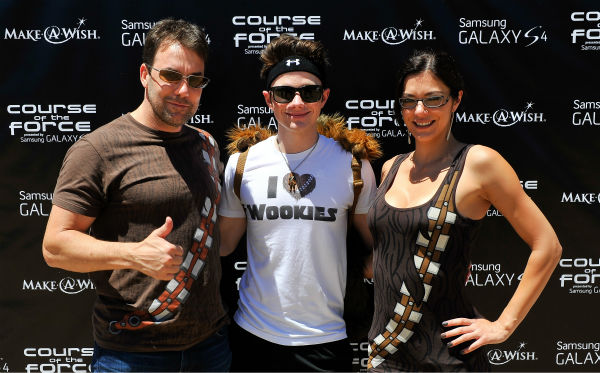 "<div class=""meta ""><span class=""caption-text "">Todd Rey, Chris Colfer and Adrianne Curry attend the Course Of The Force 2013, an 'Epic Lightsaber Relay,' benefiting the Make-A-Wish Foundation, at 'Star Wars' creator George Lucas' Skywalker Ranch in California on July 9, 2013. (Steve Jennings / WireImage)</span></div>"
