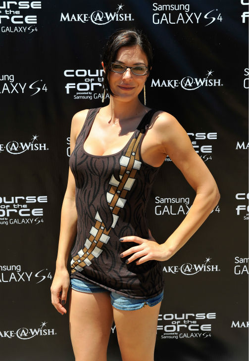 "<div class=""meta image-caption""><div class=""origin-logo origin-image ""><span></span></div><span class=""caption-text"">Adrianne Curry attends the Course Of The Force 2013, an 'Epic Lightsaber Relay,' benefiting the Make-A-Wish Foundation, at 'Star Wars' creator George Lucas' Skywalker Ranch in California on July 9, 2013. (Steve Jennings / WireImage)</span></div>"