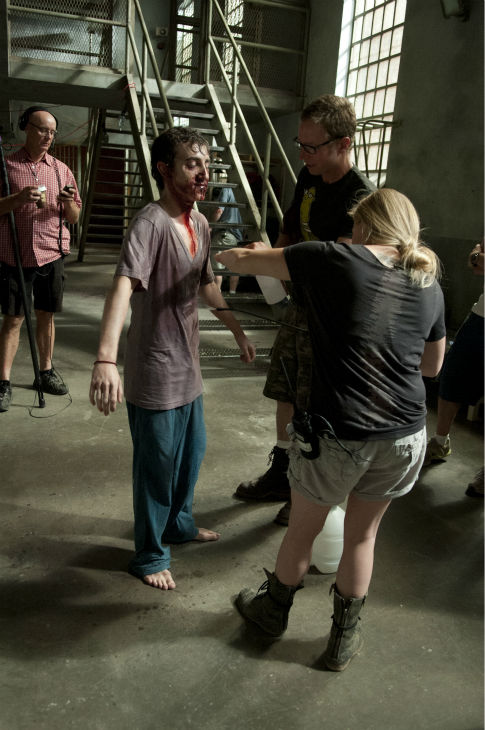 Vincent Martella &#40;Patrick, now a Walker&#41; appears on the set of AMC&#39;s &#39;The Walking Dead&#39; while filming episode 2 of season 4, titled &#39;Infected,&#39; which aired on Oct. 20, 2013.  <span class=meta>(Gene Page &#47; AMC)</span>