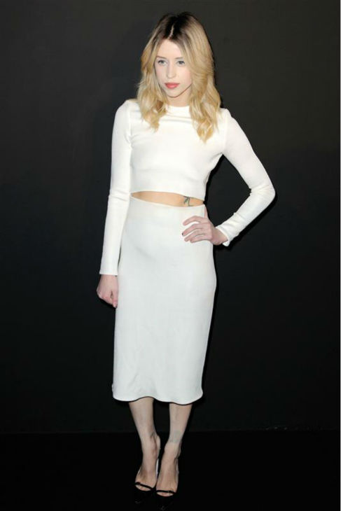 Peaches Geldof appears at the Etan Ready-To-Wear Spring &#47; Summer 2014 fashion show during Paris Fashion Week on Feb. 25, 2014. Geldof died on April 7 at age 25. <span class=meta>(Alban Wyters &#47; Abaca &#47; Startraksphoto.com)</span>
