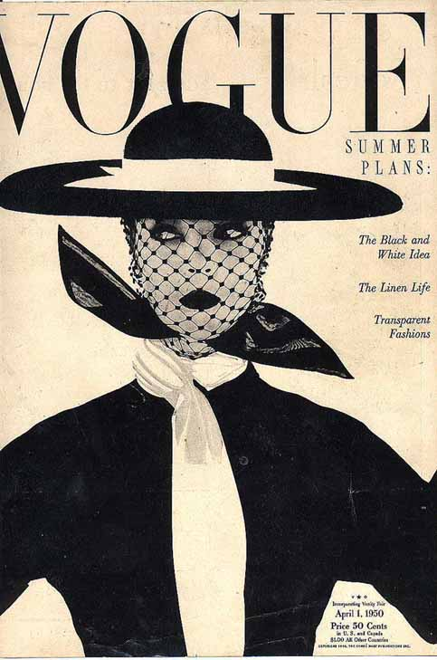Kim Kardashian collects vintage Vogue and Harper&#39;s Bazaar magazines for fun.  Pictured: A vintage Vogue magazine from April 1950. <span class=meta>(Vogue)</span>