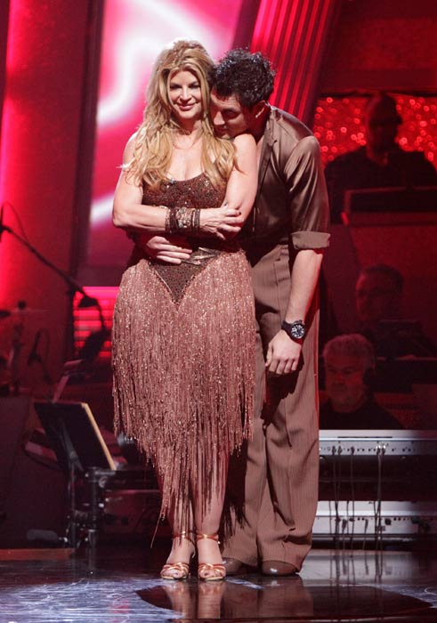 "<div class=""meta ""><span class=""caption-text "">Kirstie Alley and her partner Maksim Chmerkovskiy await possible elimination. The couple received a 26 out of 30 from the judges for their Samba on week six of 'Dancing With The Stars' on Monday, April 25, 2011.  (ABC Photo/ Adam Taylor)</span></div>"
