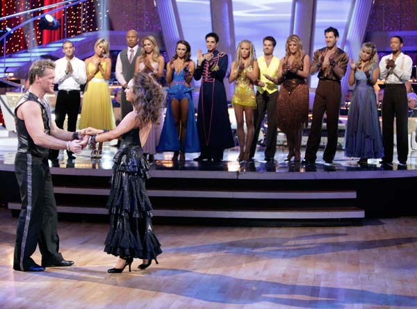 Chris Jericho and his partner Cheryl Burke react to being eliminated. The couple received 22 out of 30 from the judges for their Tango on week six of &#39;Dancing With The Stars.&#39; <span class=meta>(ABC Photo&#47; Adam Taylor)</span>