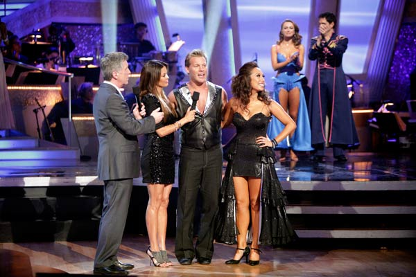 "<div class=""meta ""><span class=""caption-text "">Chris Jericho and his partner Cheryl Burke react to being eliminated. The couple received 22 out of 30 from the judges for their Tango on week six of 'Dancing With The Stars.' (ABC Photo/ Adam Taylor)</span></div>"