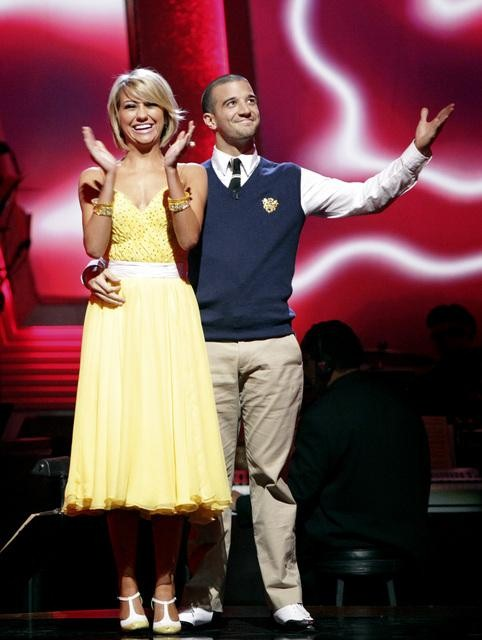 Chelsea Kane and her partner Mark Ballas await possible elimination. The couple received 28 out of 30 from the judges for their Quickstep on week six of &#39;Dancing With The Stars&#39; on Monday, April 25, 2011.  <span class=meta>(ABC Photo&#47; Adam Taylor)</span>