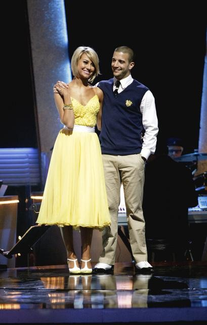 "<div class=""meta ""><span class=""caption-text "">Chelsea Kane and her partner Mark Ballas await possible elimination. The couple received 28 out of 30 from the judges for their Quickstep on week six of 'Dancing With The Stars' on Monday, April 25, 2011.  (ABC Photo/ Adam Taylor)</span></div>"