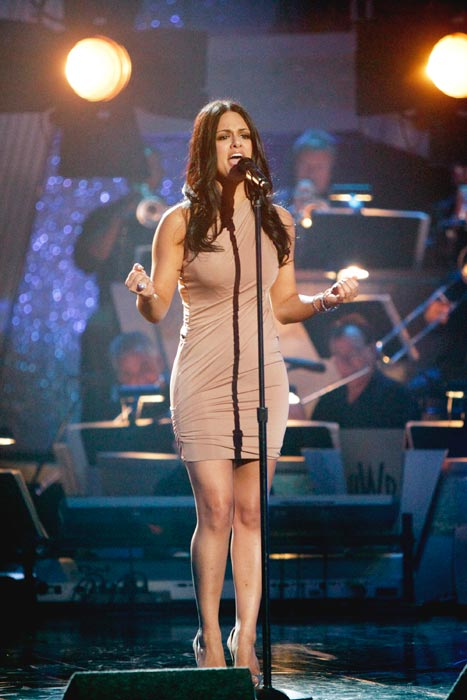 Singer and recently eliminated 'American Idol'...