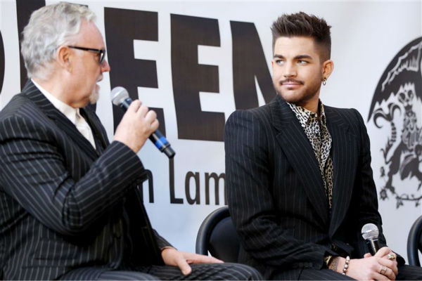 Adam Lambert appears with Queen members Brian May &#40;not pictured&#41; and Roger Taylor at a press conference at New York City&#39;s Madison Square Garden on March 6, 2014, in which they announced a summer North American tour. <span class=meta>(Mario Curtis &#47; Startraksphoto.com)</span>
