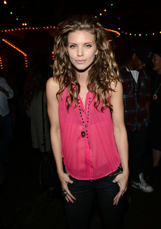 AnnaLynne McCord is pictured at Pink Taco in...