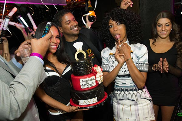 Brandy hosts a New Year&#39;s Eve party at the LAVO nightclub in Las Vegas on Dec. 31, 2012. The singer attended the event with fiance Ryan Press. UPDATE: It was reported in April 2014 that the the two ended their engagement. <span class=meta>(Al Powers &#47; Powers Imagery)</span>