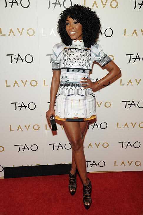 Brandy poses on the red carpet before hosting a New Year&#39;s Eve party at the LAVO nightclub in Las Vegas on Dec. 31, 2012. <span class=meta>(Al Powers &#47; Powers Imagery)</span>