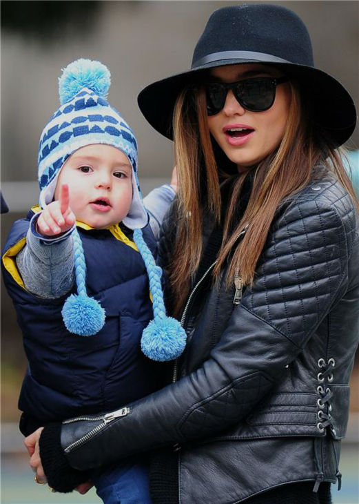 Miranda Kerr and her and Orlando Bloom&#39;s son Flynn are seen in a park in New York on Dec. 2, 2012. <span class=meta>(Humberto Carreno &#47; Startraksphoto.com)</span>